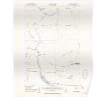 Maine USGS Historical Map Baker Lake 460137 1954 62500 Poster