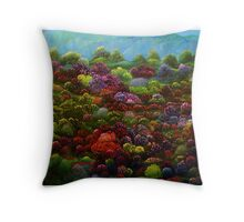 Magic Hillside II Throw Pillow