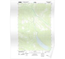 Maine USGS Historical Map Baker Lake 20110906 TM Poster