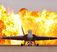 Fire and plane by franceslewis