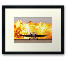 Fire and plane Framed Print
