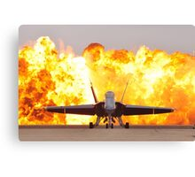 Fire and plane Canvas Print