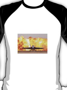 Fire and plane T-Shirt
