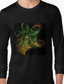 Abstact Art Space Flowers Long Sleeve T-Shirt
