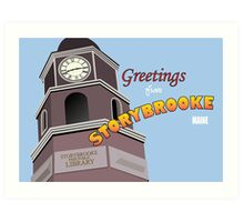 Once Upon a Time - Greetings from Storybrooke Art Print