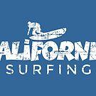 California Surfing Vintage White by theshirtshops