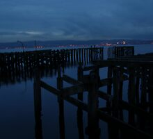 Craigendoran Piers at Dusk by Iain McGillivray
