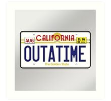 Outatime License Plate  Art Print
