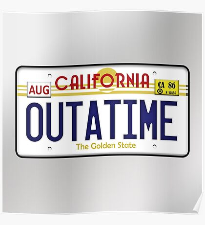 Outatime License Plate  Poster