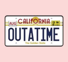 Outatime License Plate  Kids Clothes