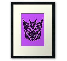Transformers Decepticons Framed Print
