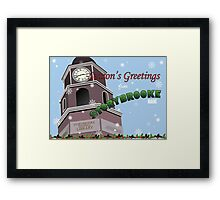 Once Upon a Time - Season's Greeting from Storybrooke Framed Print