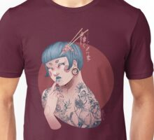 Blue Willow Tattoo Girl Unisex T-Shirt