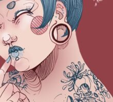 Blue Willow Tattoo Girl Sticker