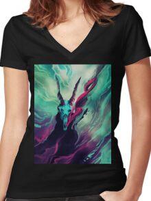 Dissolve  Women's Fitted V-Neck T-Shirt