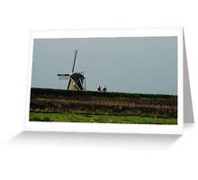 Dutch cyclists Greeting Card