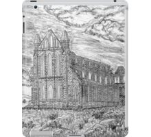 My pencil drawing of Whitby Abbey, Yorkshire - all products iPad Case/Skin
