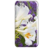 Lavender and White Flowers iPhone Case/Skin