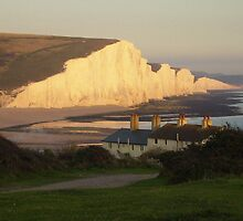 Seven Sisters in the evening sunshine by ChelseaBlue