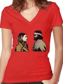 Royal Tenenbaums Women's Fitted V-Neck T-Shirt