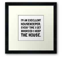 Divorced Housekeeper Framed Print
