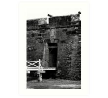 Entrance to fort at St. Augustine Florida Art Print