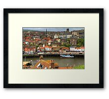 Whitby Town View Framed Print