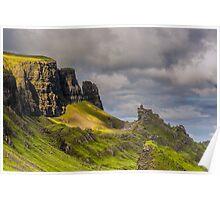 The Quiraing, Isle of Skye, Scotland. Poster