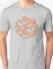Peach Floral Unisex T-Shirt
