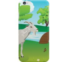 Goat and Green Lawn iPhone Case/Skin