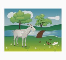 Goat and Green Lawn Kids Clothes