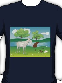 Goat and Green Lawn T-Shirt