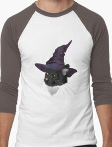 Kitty Witchy Men's Baseball ¾ T-Shirt