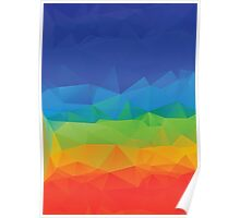 Multicolor Geometric Background 6 Poster