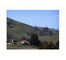 Wind Turbines at Carcoar, NSW Art Print