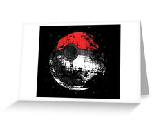 Pokeball Death Star Greeting Card