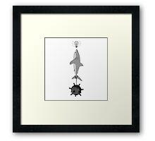 Idea Shark Framed Print