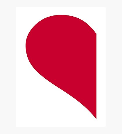 Red left half heart Photographic Print
