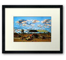 Deserted Gold mining camp...Mt Magnet Framed Print