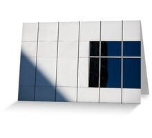 The one with a white wall a window and a shadow Greeting Card