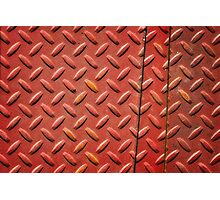 The one with the diamond patterned iron slabs Photographic Print