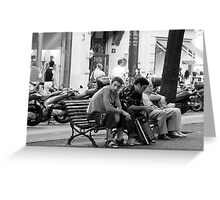 A moment of rest Greeting Card