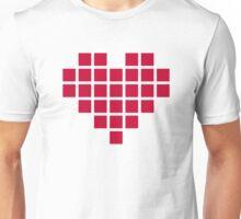 Red pixel heart Unisex T-Shirt