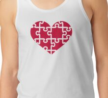 Red heart puzzle Tank Top