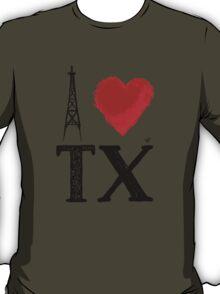 I Heart Texas (remix) by Tai's Tees T-Shirt