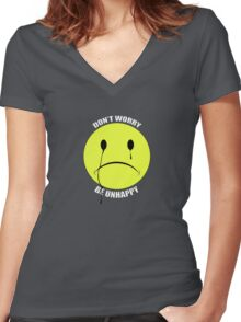Don't Worry! Women's Fitted V-Neck T-Shirt