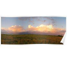 Sunset Storm - Springsure Tambo Road, Queensland Poster