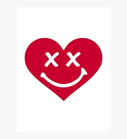 Red heart smiley Photographic Print
