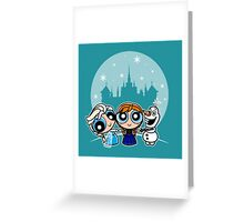 Frozen Powerpuff Girls Mash-Up Greeting Card