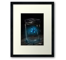 Butterfly Jar Framed Print